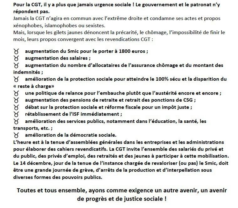 Le 14 DÉCEMBRE, pour salaires, pensions, protection sociale, AGISSONS !