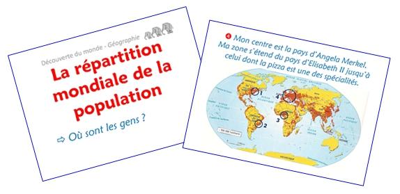 La répartition mondiale de la population (diaporamas)