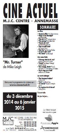 Programme du 3 écembre au 6 janvier 2014