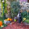 Décoration Halloween dans le village
