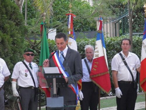22 Août - Cérémonie au PRADET à la stèle Diego Brosset et aux monuments de la 1ère DFL