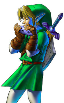 Link plays the Ocarina of Time - <i>Ocarina of Time 3D</i>