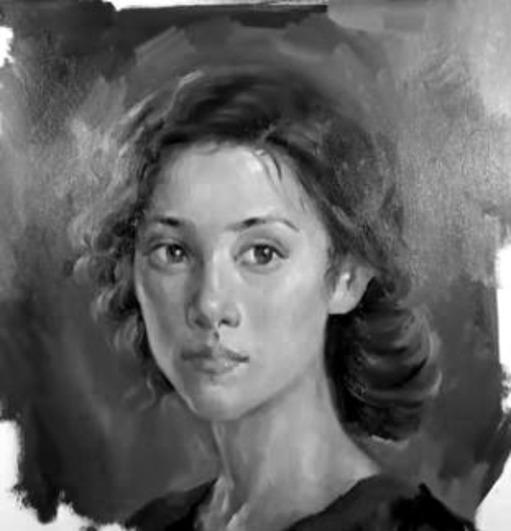 Dessin et peinture - vidéo 1886 : Un portrait de jeune fille, à la peinture à l'huile, d'un incroyable réalisme