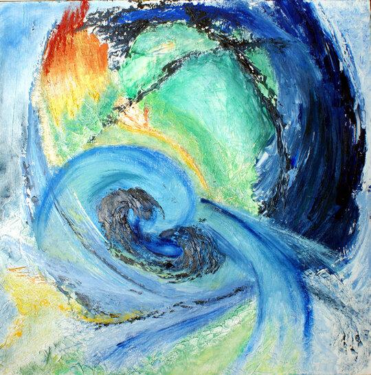 Eclat de vie - Peinture abstraite