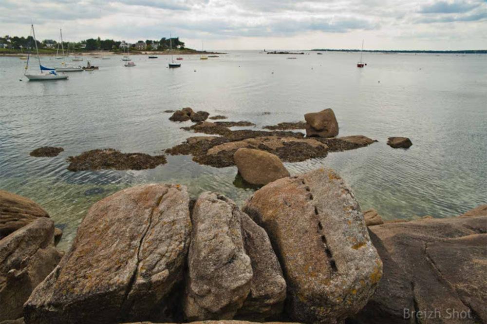 La baie de Concarneau vue depuis le Porzou
