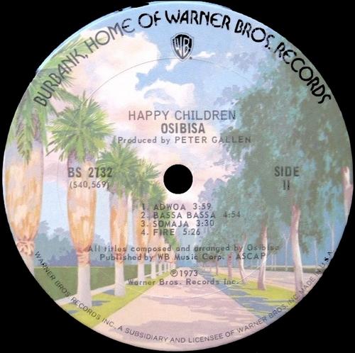 """1973 : Album """" Happy Children """" Warner Bros. Records BS 2732 [ US ]"""