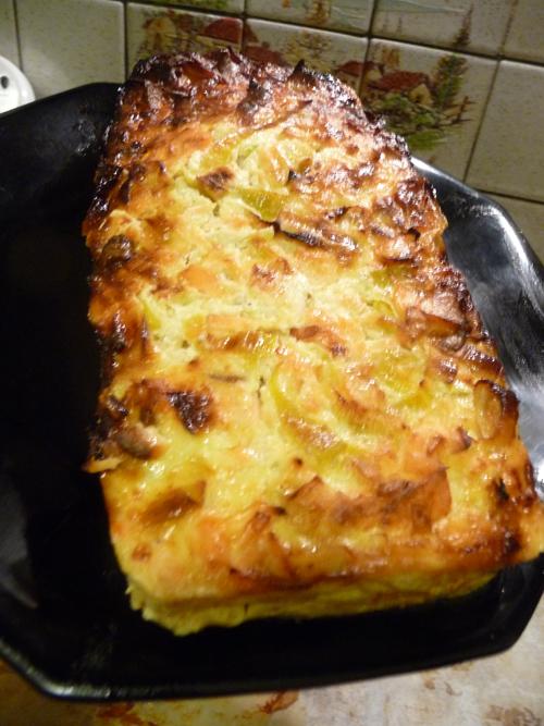 pain de poireau et saumon dukan
