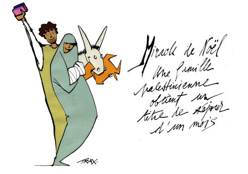Miracle Noël Palestine réfugiés Joseph Marie Jésus migrants