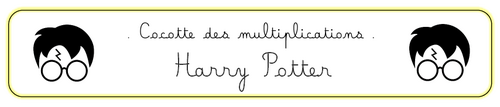Cocottes des multiplications Harry Potter