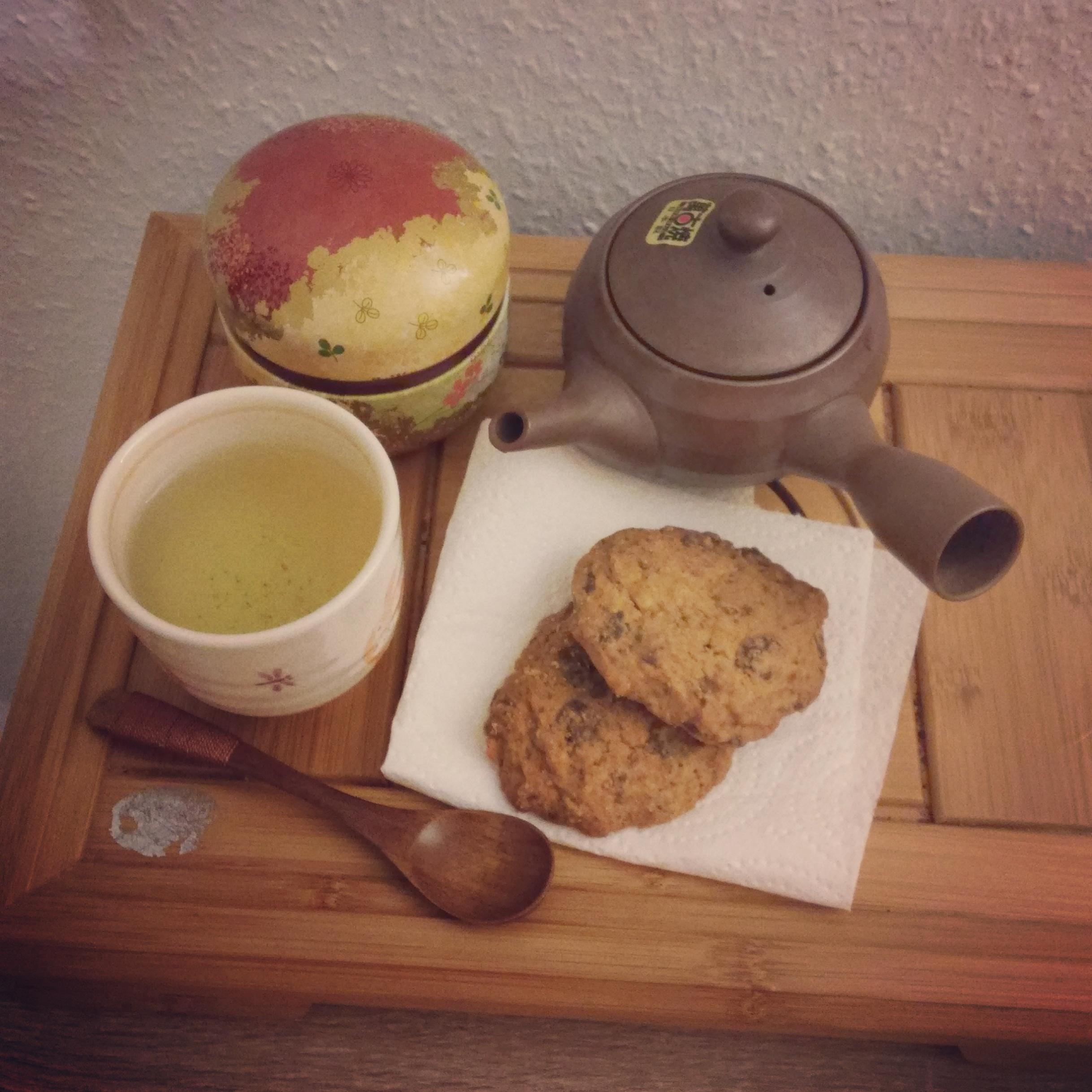 Du thé sencha et des cookies