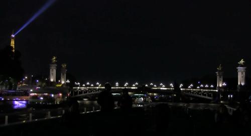 Paris vue de la Seine en péniche