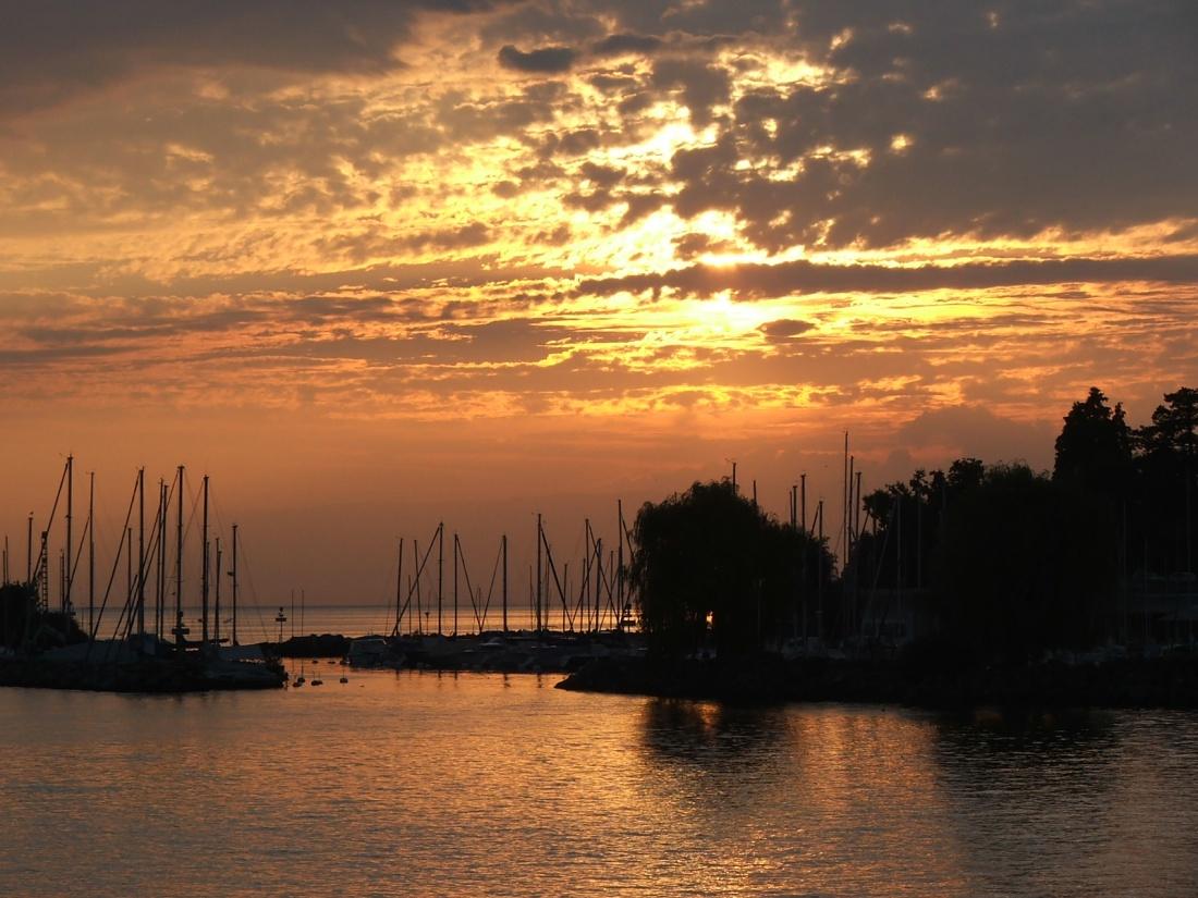 coucher de soleil en Suisse