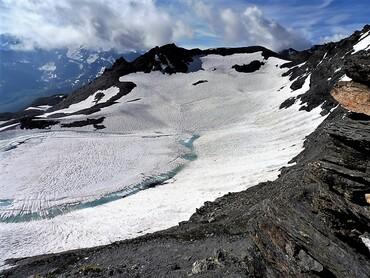 Vue du Col des Fours (2976 m) - Lac des Fours