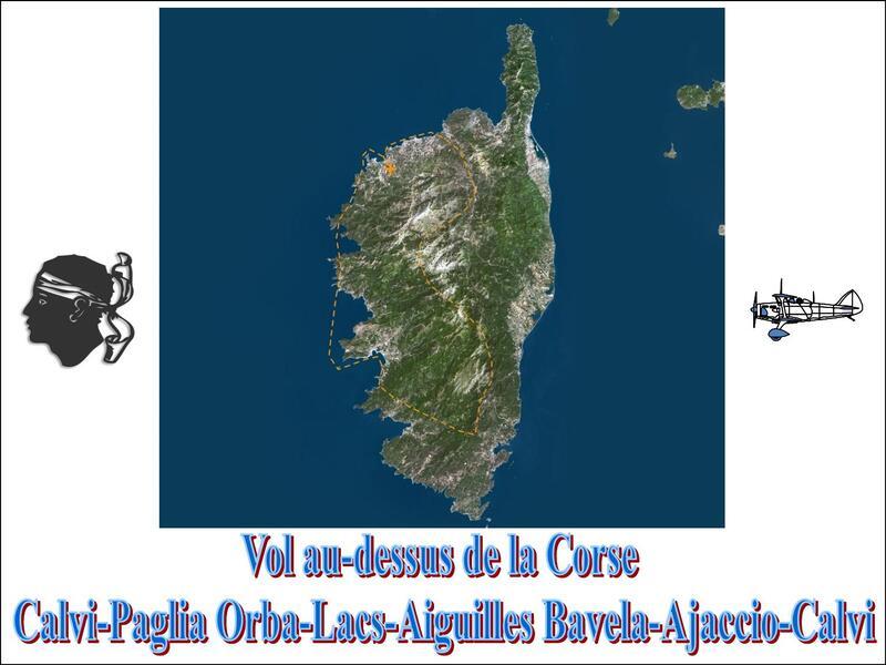 Vol au-dessus de la Corse...