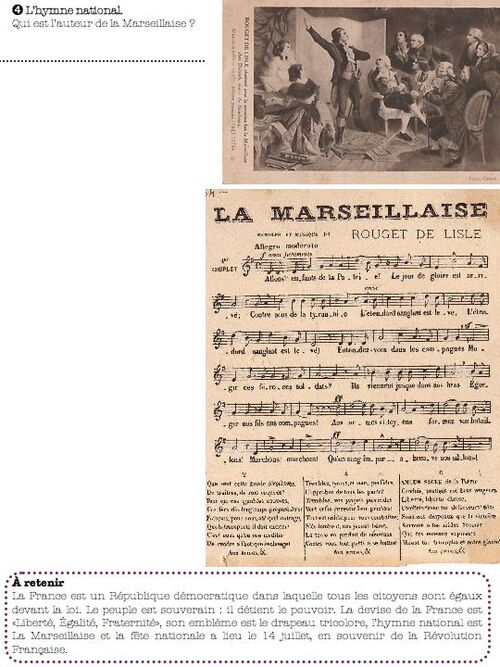 les symboles de la République française-ce1