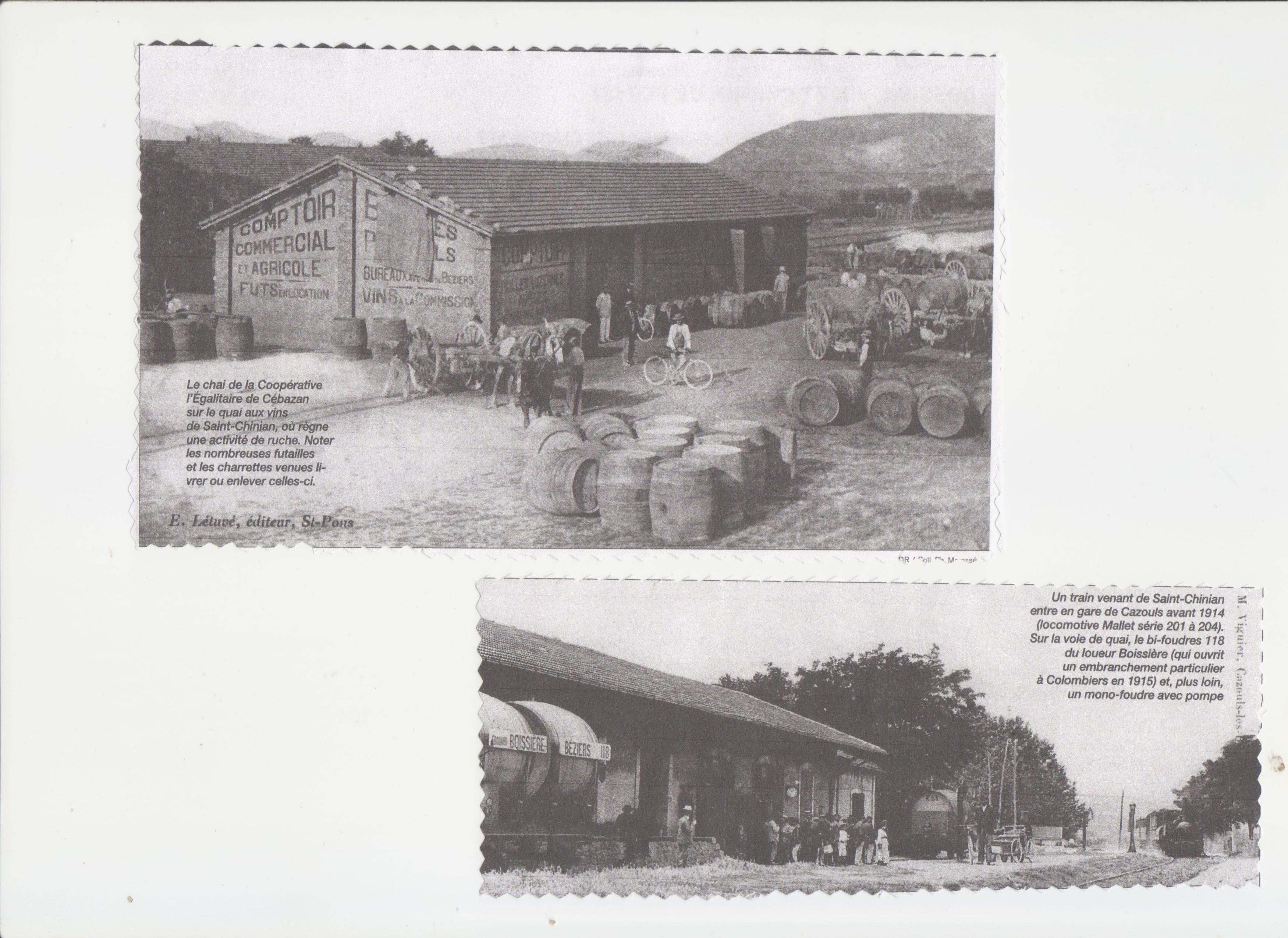 Le trafic viticole sur le rail entre St Chinian et Béziers - Contes on