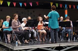 l'orchestre d'harmonie à Montmorillon