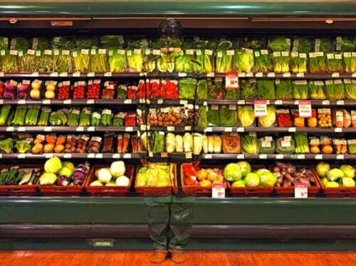 Liu Bolin green food
