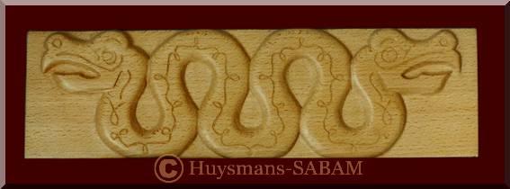 Sculpture sur bois d'inspiration celtique, bas-relief - Arts et sculpture: sculpteur designer
