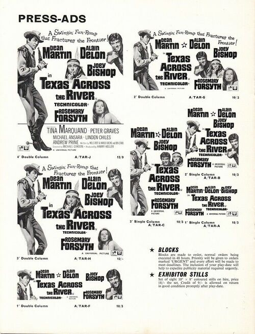 TEXAS NOUS VOILA BOX OFFICE USA 1966