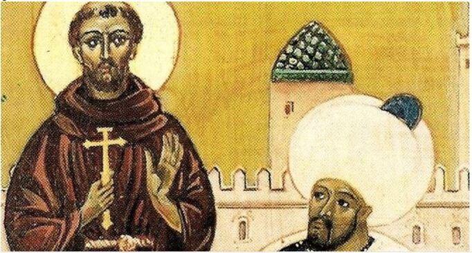 Pape François et saint François et son frère musulman