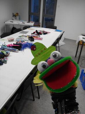 Une idée de marionnette chaussette!