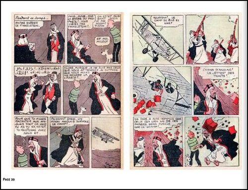Tintin au pays de l'or noir - Version inédite N&B Petit XXième