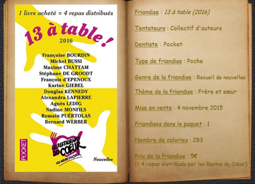 13 à table (2016) - Collectif d'auteurs