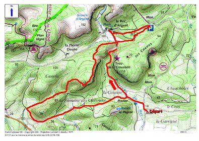 Le Circuit de la Goutine depuis Gruissan (chemin communal 3 des Auzils)