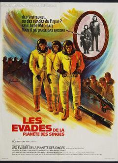 LES EVADES DE LA PLANETE DES SINGES AFFICHE FRANCE 1971