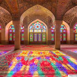Mosquée Nasir-ol-molk, située en Iran
