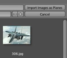 Cliquer sur le bouton Import Images as Planes