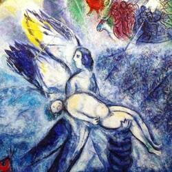 La création de l'homme par Marc Chagall