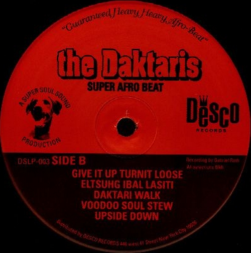 "The Daktaris : Album "" Soul Explosion "" Desco Records DSLP003 [ US ]"