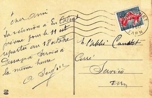 Série inédite : les verso des cartes postales