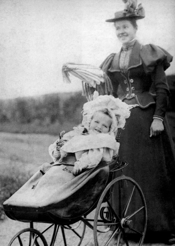 Olga as a baby with Miss Eagar, her nanny. Margaretta Eagar eventually would write on life with the Imperial Family in her book, Six Years At The Russian Court.