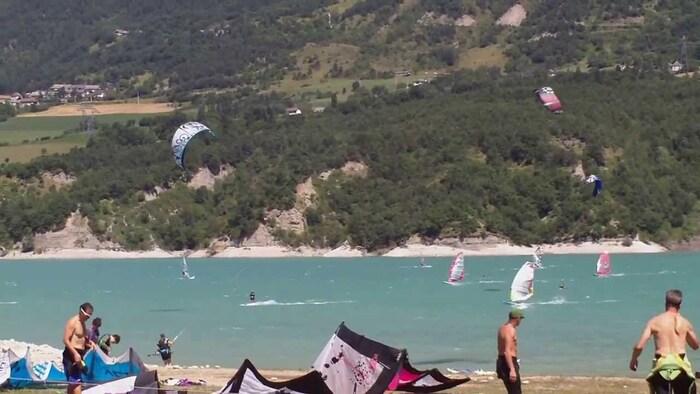 Le lac de Monteynard en Isère