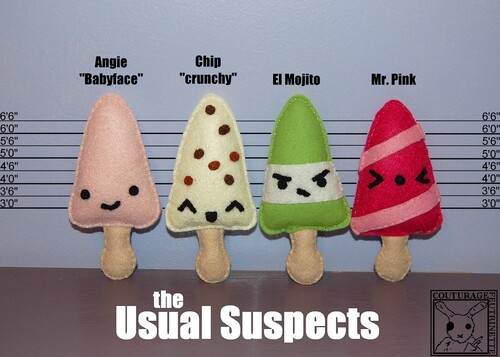felt, popsicles, icecream, usual suspects, DIY