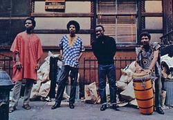 """Les membres du groupe """"The last poets"""" en 1969"""