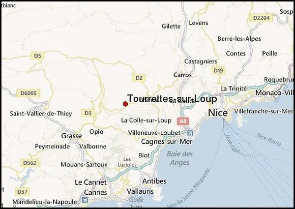 Tourrettes sur Loup (Alpes-Maritimes)