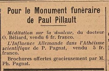 Paul Pillault (27 avril 1854-8 juillet 1922)