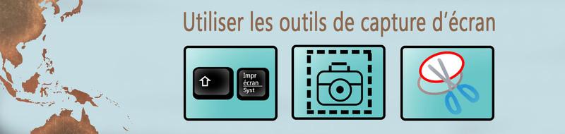 Les outils de capture d'écran
