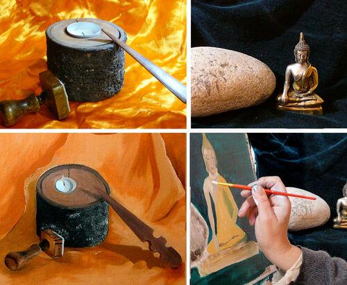 La peinture à l'huile, c'est pas difficile...