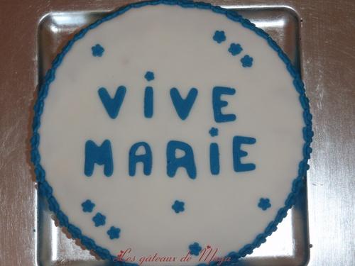 Gâteaux du 15 août décore pâte à sucre
