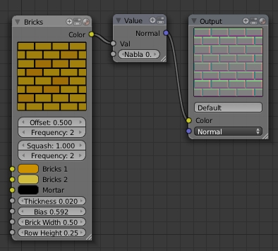 Faire une Normal map dans le Node Editor