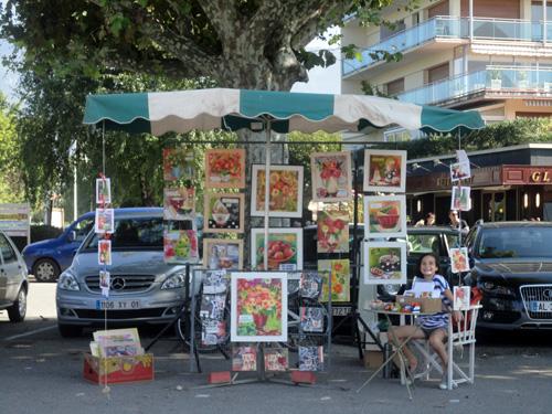 """""""marché de l'art"""" à Aix les Bains"""