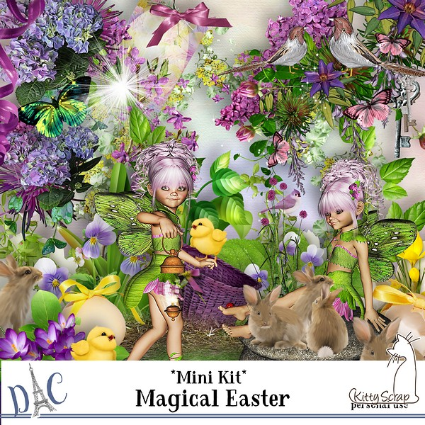 mini kit magical easter de kittyscrap
