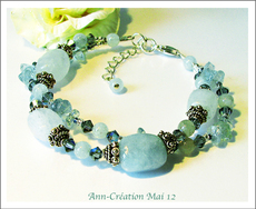 - Amazonite, Quartz Bleu, Aigue-Marine, Corail Bleu