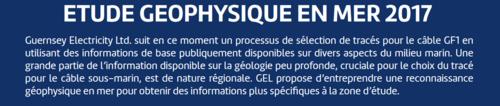 Projet de cable sous-marin 90 000 volts entre le Cotentin et Guernesey,