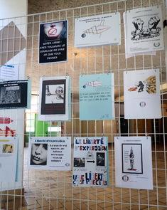 Exposition d'affiches des élèves de 4e